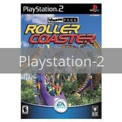 Image of Theme Park Roller Coaster original video game for Playstation 2 classic game system. Rocket City Arcade, Huntsville Al. We ship used video games Nationwide