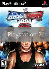 Image of WWE Smackdown vs. Raw 2008 original video game for Playstation 2 classic game system. Rocket City Arcade, Huntsville Al. We ship used video games Nationwide