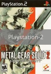 Image of Metal Gear Solid 2 original video game for Playstation 2 classic game system. Rocket City Arcade, Huntsville Al. We ship used video games Nationwide