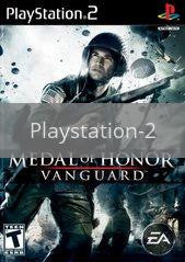 Image of Medal of Honor Vanguard original video game for Playstation 2 classic game system. Rocket City Arcade, Huntsville Al. We ship used video games Nationwide