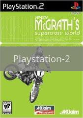 Image of Jeremy McGrath Supercross World original video game for Playstation 2 classic game system. Rocket City Arcade, Huntsville Al. We ship used video games Nationwide