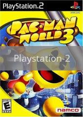 Image of Pac-Man World 3 original video game for Playstation 2 classic game system. Rocket City Arcade, Huntsville Al. We ship used video games Nationwide