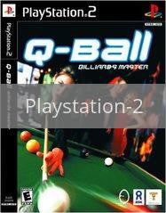 Image of Q-Ball Billiards Master original video game for Playstation 2 classic game system. Rocket City Arcade, Huntsville Al. We ship used video games Nationwide