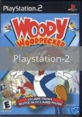 Image of Woody Woodpecker: Escape From Buzz Buzzard Park original video game for Playstation 2 classic game system. Rocket City Arcade, Huntsville Al. We ship used video games Nationwide