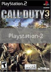 Image of Call of Duty 3 original video game for Playstation 2 classic game system. Rocket City Arcade, Huntsville Al. We ship used video games Nationwide