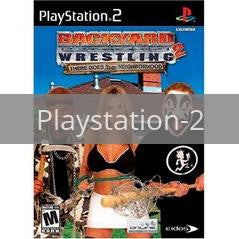 Image of Backyard Wrestling 2 original video game for Playstation 2 classic game system. Rocket City Arcade, Huntsville Al. We ship used video games Nationwide