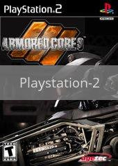 Image of Armored Core 3 original video game for Playstation 2 classic game system. Rocket City Arcade, Huntsville Al. We ship used video games Nationwide