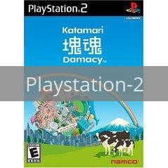 Image of Katamari Damacy original video game for Playstation 2 classic game system. Rocket City Arcade, Huntsville Al. We ship used video games Nationwide