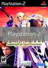 Image of Phantasy Star Universe Ambition Of Illuminus Expansion original video game for Playstation 2 classic game system. Rocket City Arcade, Huntsville Al. We ship used video games Nationwide