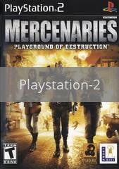 Image of Mercenaries original video game for Playstation 2 classic game system. Rocket City Arcade, Huntsville Al. We ship used video games Nationwide