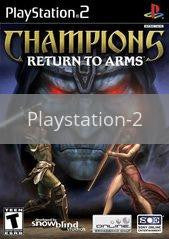Image of Champions Return to Arms original video game for Playstation 2 classic game system. Rocket City Arcade, Huntsville Al. We ship used video games Nationwide