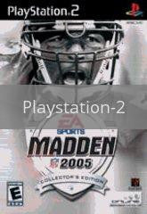 Image of Madden 2005 Collector's Edition original video game for Playstation 2 classic game system. Rocket City Arcade, Huntsville Al. We ship used video games Nationwide