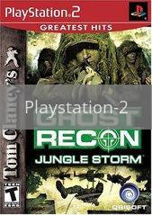 Image of Ghost Recon Jungle Storm original video game for Playstation 2 classic game system. Rocket City Arcade, Huntsville Al. We ship used video games Nationwide