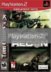 Image of Ghost Recon original video game for Playstation 2 classic game system. Rocket City Arcade, Huntsville Al. We ship used video games Nationwide