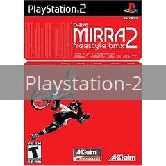 Image of Dave Mirra Freestyle BMX 2 original video game for Playstation 2 classic game system. Rocket City Arcade, Huntsville Al. We ship used video games Nationwide