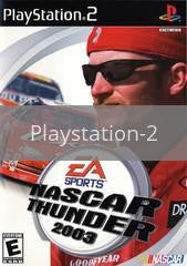 Image of NASCAR Thunder 2003 original video game for Playstation 2 classic game system. Rocket City Arcade, Huntsville Al. We ship used video games Nationwide