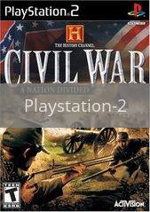 Image of History Channel Civil War A Nation Divided original video game for Playstation 2 classic game system. Rocket City Arcade, Huntsville Al. We ship used video games Nationwide