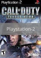 Image of Call of Duty Finest Hour original video game for Playstation 2 classic game system. Rocket City Arcade, Huntsville Al. We ship used video games Nationwide