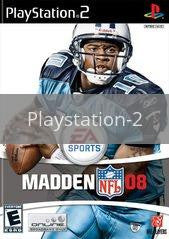 Image of Madden 2008 original video game for Playstation 2 classic game system. Rocket City Arcade, Huntsville Al. We ship used video games Nationwide