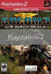 Image of SOCOM III US Navy Seals original video game for Playstation 2 classic game system. Rocket City Arcade, Huntsville Al. We ship used video games Nationwide