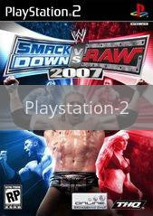Image of WWE Smackdown vs. Raw 2007 original video game for Playstation 2 classic game system. Rocket City Arcade, Huntsville Al. We ship used video games Nationwide