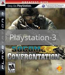 Image of SOCOM Confrontation original video game for Playstation 3 classic game system. Rocket City Arcade, Huntsville Al. We ship used video games Nationwide