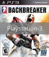 Image of Backbreaker original video game for Playstation 3 classic game system. Rocket City Arcade, Huntsville Al. We ship used video games Nationwide
