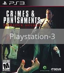 Image of Sherlock Holmes: Crimes & Punishments original video game for Playstation 3 classic game system. Rocket City Arcade, Huntsville Al. We ship used video games Nationwide