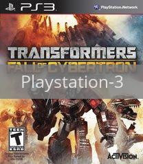 Image of Transformers: Fall Of Cybertron original video game for Playstation 3 classic game system. Rocket City Arcade, Huntsville Al. We ship used video games Nationwide