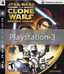 Image of Star Wars Clone Wars: Republic Heroes original video game for Playstation 3 classic game system. Rocket City Arcade, Huntsville Al. We ship used video games Nationwide