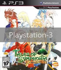 Image of Tales of Symphonia Chronicles original video game for Playstation 3 classic game system. Rocket City Arcade, Huntsville Al. We ship used video games Nationwide