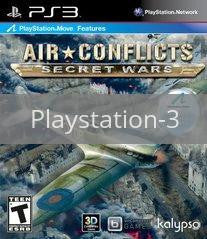 Image of Air Conflicts: Secret Wars original video game for Playstation 3 classic game system. Rocket City Arcade, Huntsville Al. We ship used video games Nationwide