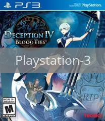 Image of Deception IV: Blood Ties original video game for Playstation 3 classic game system. Rocket City Arcade, Huntsville Al. We ship used video games Nationwide