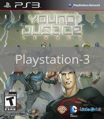 Image of Young Justice: Legacy original video game for Playstation 3 classic game system. Rocket City Arcade, Huntsville Al. We ship used video games Nationwide