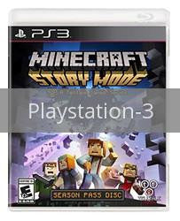 Image of Minecraft: Story Mode Season Disc original video game for Playstation 3 classic game system. Rocket City Arcade, Huntsville Al. We ship used video games Nationwide