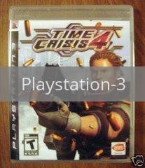 Image of Time Crisis 4 original video game for Playstation 3 classic game system. Rocket City Arcade, Huntsville Al. We ship used video games Nationwide
