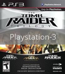 Image of Tomb Raider Trilogy original video game for Playstation 3 classic game system. Rocket City Arcade, Huntsville Al. We ship used video games Nationwide