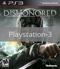 Image of Dishonored original video game for Playstation 3 classic game system. Rocket City Arcade, Huntsville Al. We ship used video games Nationwide