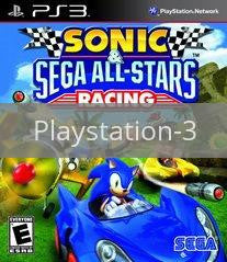 Image of Sonic & SEGA All-Stars Racing original video game for Playstation 3 classic game system. Rocket City Arcade, Huntsville Al. We ship used video games Nationwide
