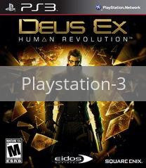 Image of Deus Ex: Human Revolution original video game for Playstation 3 classic game system. Rocket City Arcade, Huntsville Al. We ship used video games Nationwide