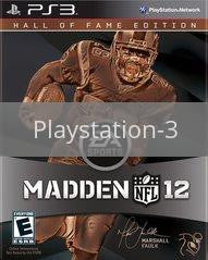 Image of Madden NFL 12 Hall of Fame Edition original video game for Playstation 3 classic game system. Rocket City Arcade, Huntsville Al. We ship used video games Nationwide