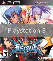 Image of BlazBlue: Chrono Phantasma original video game for Playstation 3 classic game system. Rocket City Arcade, Huntsville Al. We ship used video games Nationwide