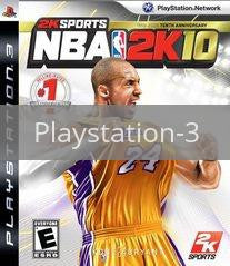 Image of NBA 2K10 original video game for Playstation 3 classic game system. Rocket City Arcade, Huntsville Al. We ship used video games Nationwide