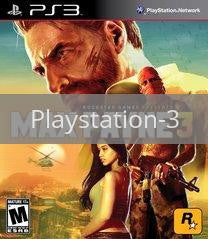 Image of Max Payne 3 original video game for Playstation 3 classic game system. Rocket City Arcade, Huntsville Al. We ship used video games Nationwide