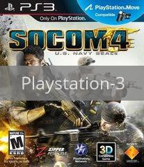 Image of SOCOM 4: US Navy SEALs original video game for Playstation 3 classic game system. Rocket City Arcade, Huntsville Al. We ship used video games Nationwide