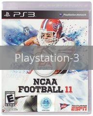 Image of NCAA Football 11 original video game for Playstation 3 classic game system. Rocket City Arcade, Huntsville Al. We ship used video games Nationwide