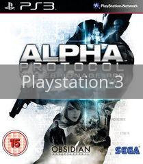 Image of Alpha Protocol original video game for Playstation 3 classic game system. Rocket City Arcade, Huntsville Al. We ship used video games Nationwide