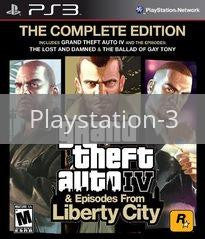 Image of Grand Theft Auto IV: Complete Edition original video game for Playstation 3 classic game system. Rocket City Arcade, Huntsville Al. We ship used video games Nationwide