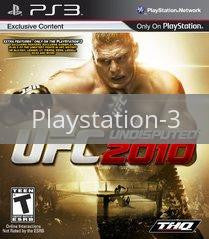 Image of UFC Undisputed 2010 original video game for Playstation 3 classic game system. Rocket City Arcade, Huntsville Al. We ship used video games Nationwide