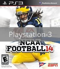 Image of NCAA Football 14 original video game for Playstation 3 classic game system. Rocket City Arcade, Huntsville Al. We ship used video games Nationwide